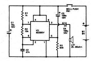 Chuông cửa (Doorbell) sử dụng IC 555
