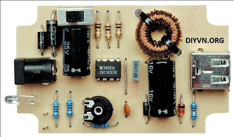 Mạch sạc pin 5V - 500mA