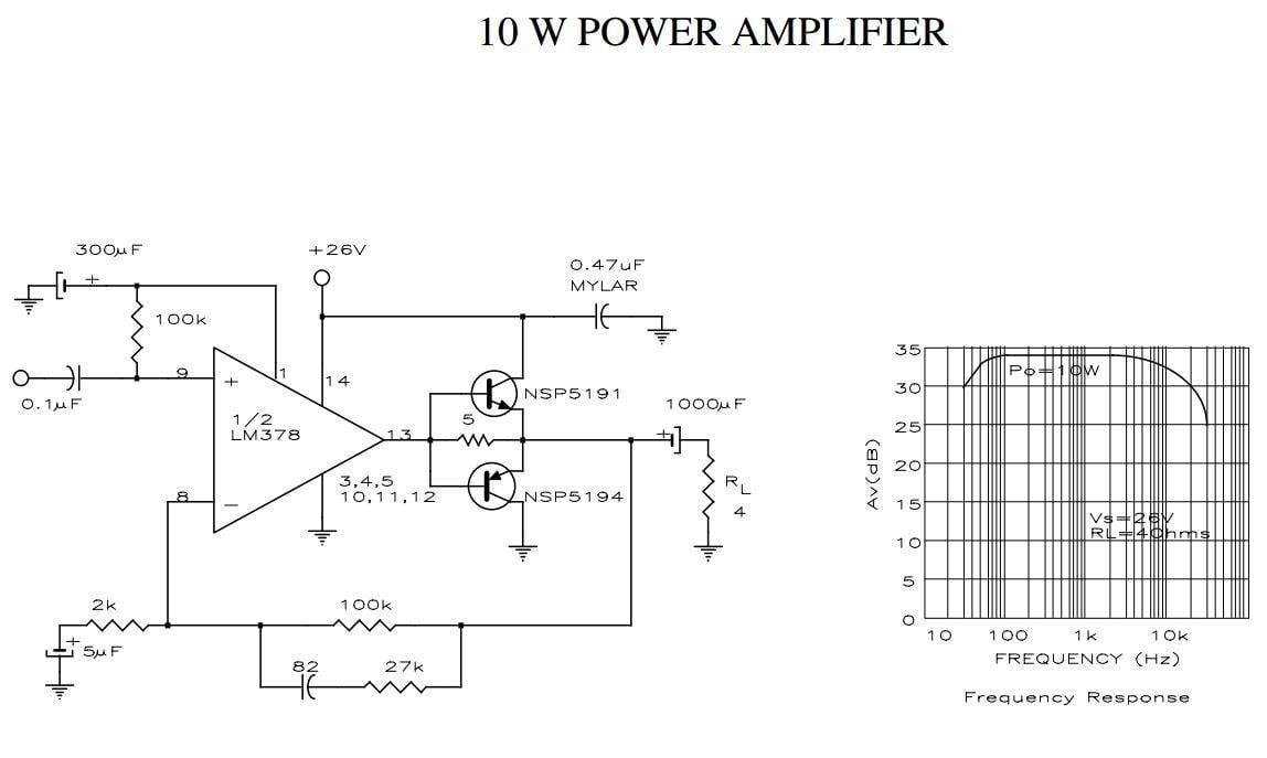 Mạch khuyếch đại âm thanh 10W sử dụng nguồn đơn