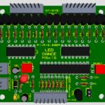 Mạch LED DANCE ver1 - LED nháy theo nhạc bằng matrix 8x16