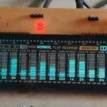 Nháy theo nhạc sử dụng STM8S hiển thị VFD - Audio spectrum analyzer
