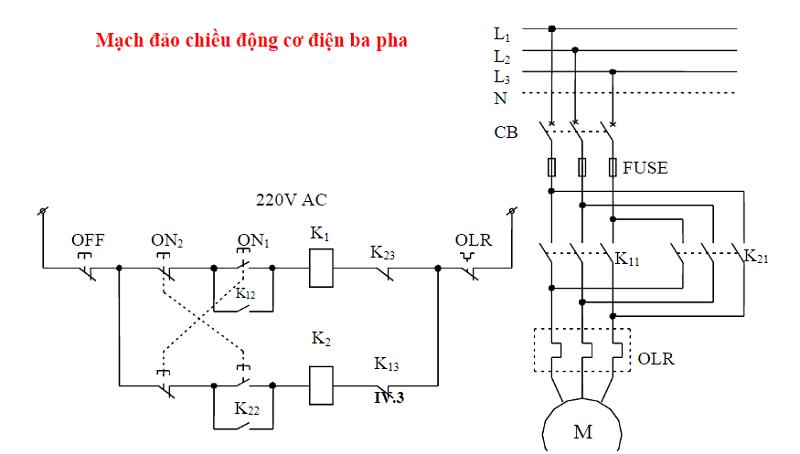 Mạch đảo chiều động cơ điện ba pha