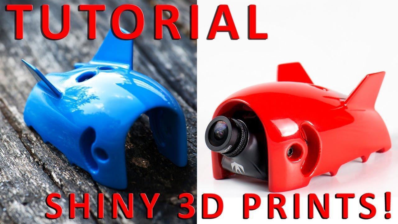 Sơn và làm nhẵn bề mặt mẫu in 3D